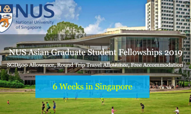 NUS Asian Graduate Student Fellowships 2019 in Singapore