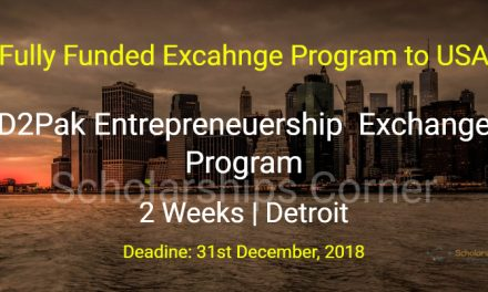 Detroit Entrepreneurship Exchange Program for Pakistani Entrepreneurs in USA – Fully Funded