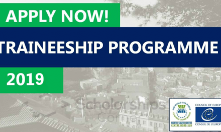 North South Centre of Council of Europe Traineeship Program 2019