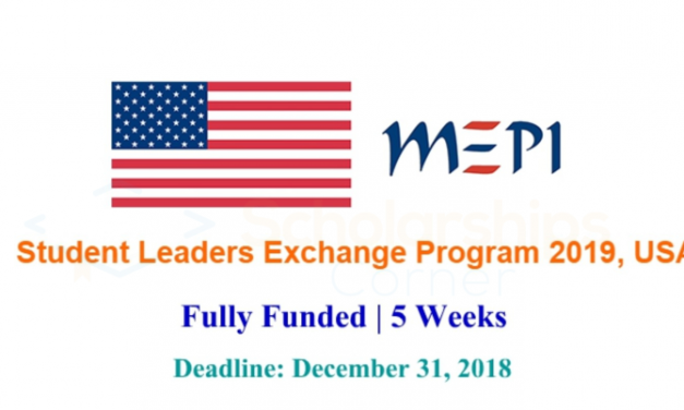 MEPI Student Leaders Exchange Program 2019 in USA – Fully Funded