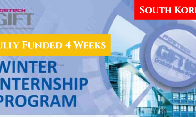 Korea Winter Internship Program 2020 [Fully Funded 4 Weeks]