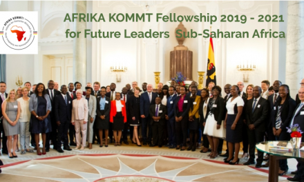 AFRIKA KOMMT Fellowship 2019 – 2021 for Future Leaders from Sub-Saharan Africa