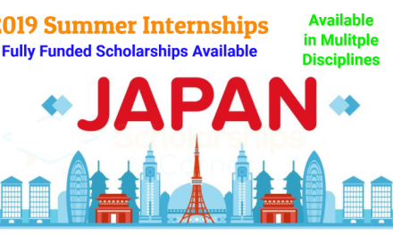 2019 Summer Internships in Japan – Available in Multiple Disciplines