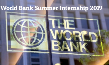 World Bank Summer Internship 2019 – Paid Summer Internship