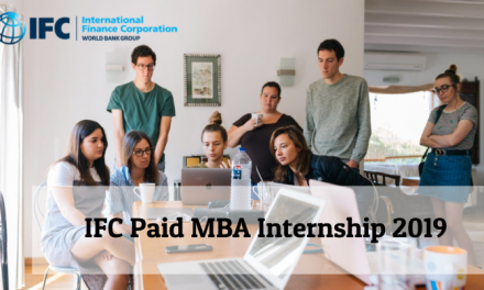 IFC Paid MBA Internship 2019 by World Bank Group