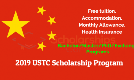 2019 USTC Scholarship Program in China [BS/MS/PhD/Exchange Programs]