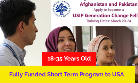 Generation Change Fellows Program 2019 – Fully Funded to United States