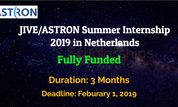 JIVE/ASTRON Summer Internship 2019 in Netherlands – Fully Funded