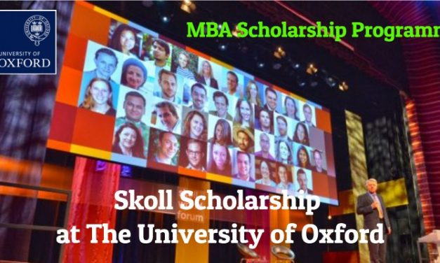 Skoll Scholarship 2019-20 at The University of Oxford