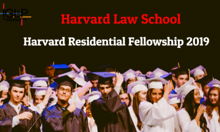 Harvard Residential Fellowship 2019-20 by Harvard Law School