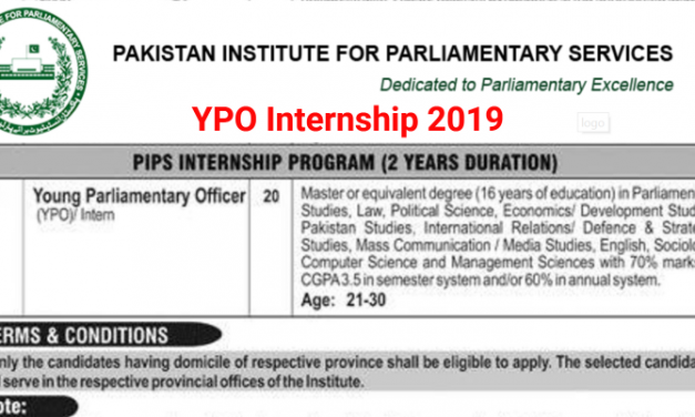 Youth Parliamentary Officers YPO Internship Program 2019