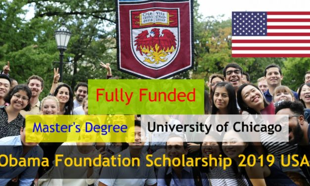 Obama Foundation Scholarship 2019 in USA – Fully Funded