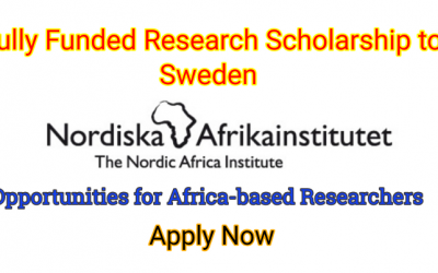 Nordic Africa Institute Africa Research Scholarship 2019 – Fully Funded to Sweden