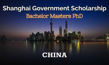 Shanghai Government Scholarship 2019 in China [BS/MS/PHD]