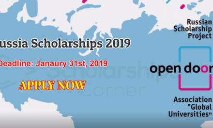 Russia Scholarships 2019 by Ministry of Education & Science of Russian Federation
