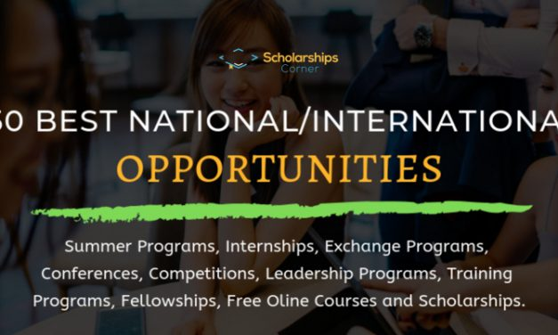 50 Best National and International Opportunities 2019