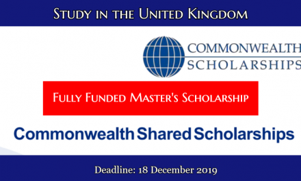 Commonwealth Shared Scholarships 2020 in UK – Fully Funded UK Government Scholarship