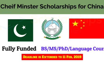 Chinese Scholarship 2019 for KP & FATA Students (BS/MS/PhD)