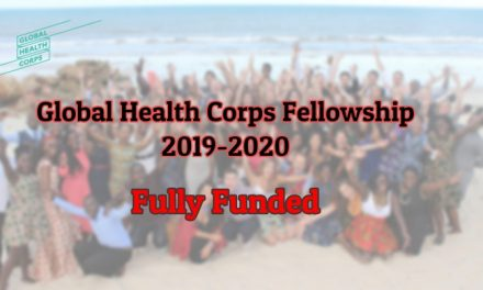 Global Health Corps Fellowship 2019-2020 – Fully Funded