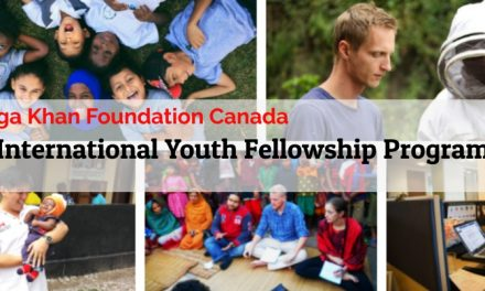 Aga Khan Foundation Canada's International Youth Fellowship Program 2019