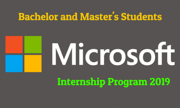 Microsoft Internship Program 2019 for Undergraduate & Master's Students