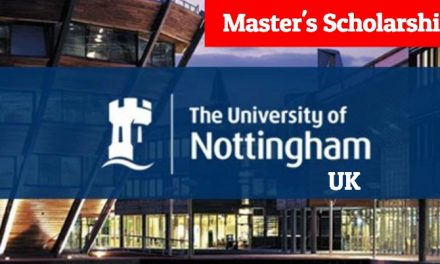 University of Nottingham Developing Solutions Masters Scholarship 2019