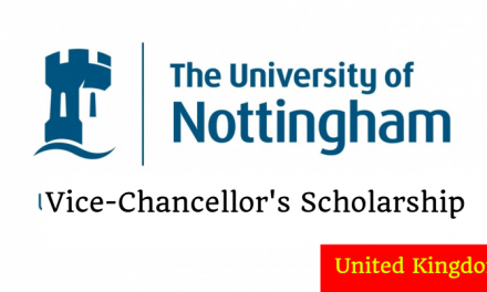 University of Nottingham Vice Chancellors Scholarship 2019 in UK