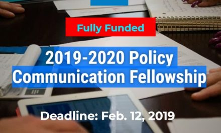 Policy Communication Fellowship 2019-2020 – Fully Funded