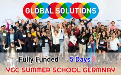 YGC Summer School Berlin 2019 – Fully Funded Global Solutions Summit