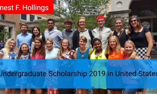 Ernest F. Hollings Undergraduate Scholarship 2019 in United States