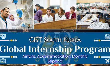 Global Intern Program 2019 in South Korea – GIST Internship