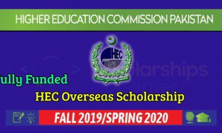 HEC Overseas Scholarship 2019-2020 for Pakistani Students
