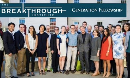 Breakthrough Institute Generation Fellowship 2019 in USA