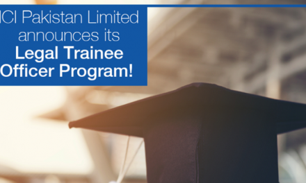 ICI Pakistan Limited Legal Trainee Officer Program 2019