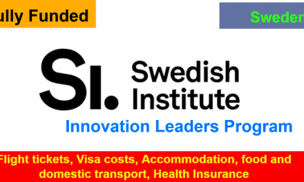 Swedish Institute Innovation Leaders Program 2019 – Fully Funded