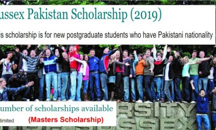 University of Sussex Pakistan Scholarship 2019 in Uk