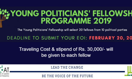 Young Politicians Fellowship Programme 2019 by PILDAT/TABEER