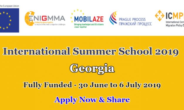 International Summer School 2019 [Fully Funded] in Georgia