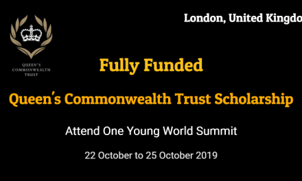 Queen's Commonwealth Trust Scholarship to attend OYW Summit 2019 in London