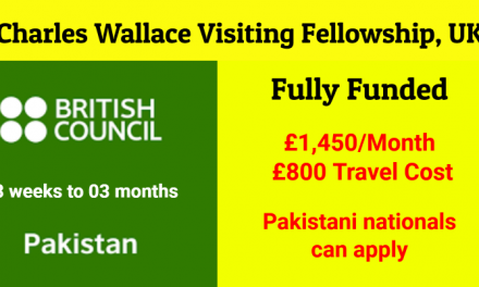 Charles Wallace Visiting Fellowship 2019-20 in UK [Fully Funded]