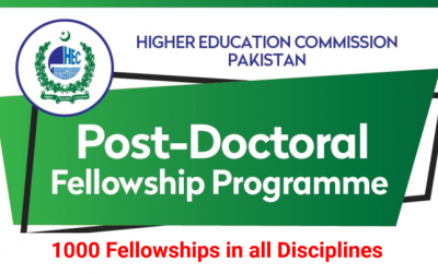 HEC Post Doctoral Fellowship – 1000 Fellowships in all Disciplines