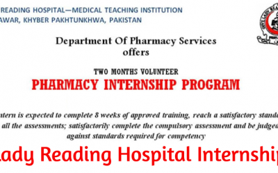 LRH Internship Program 2019 in Peshawar – Pharmacy Internship