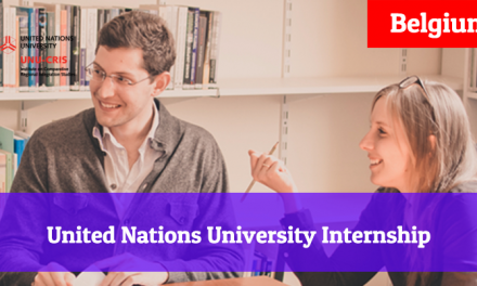 United Nations University Internship Programme 2019 in Belgium