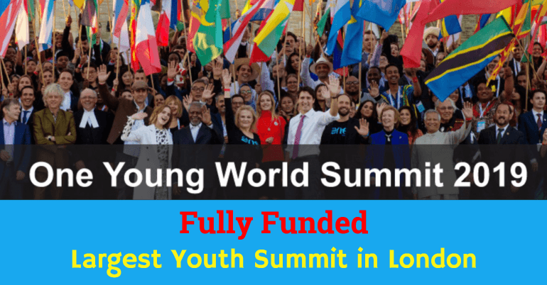 One Young World Youth Summit 2019 in London [Fully Funded]