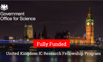United Kingdom IC Research Fellowship Program 2019 [Fully Funded]