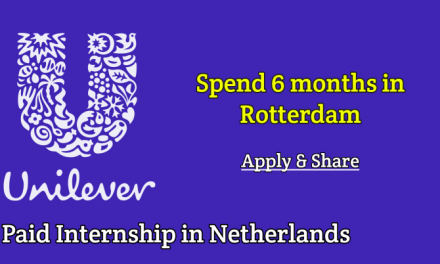 Human Resource Internship 2019 at Unilever in Netherlands