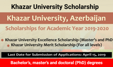 Khazar University Scholarships 2019-20 in Azerbaijan