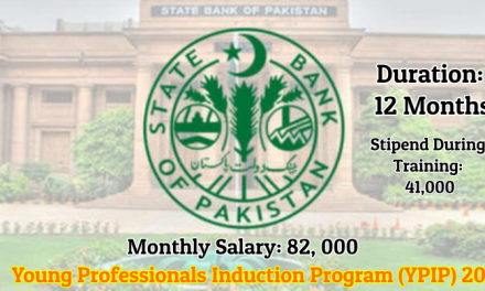 SBP Young Professionals Induction Program (YPIP) 2019 –  82,000/- Monthly Salary