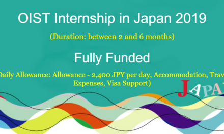 OIST Internship in Japan 2019 [Fully Funded] Japan Internship Program