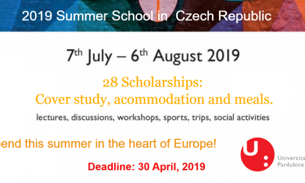 2019 Summer School in  Czech Republic – Spend Summer in the heart of Europe!